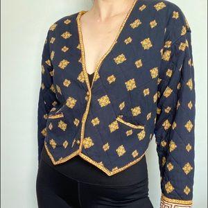 Vintage quilted cute jacket blazer